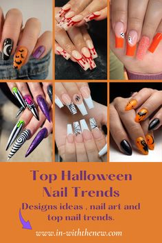 Halloween is just around the corner—and though you might not be planning on dressing up, you still can get in on the festivities. Here are top Halloween-inspired manicures that will get you in the spirit of Halloween! Dark Gel Nails, Pointy Nails, Gel Nail Polish, Coffin Nails, Halloween Press On Nails, Halloween Nail Designs, Nail Art Stickers, Nail Decals, Duck Nails