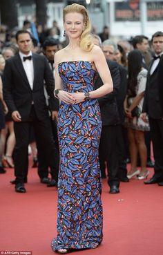 Nicole Kidman in colourful dress