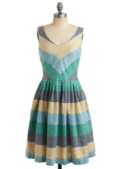 Modcloth  House Barbecue Dress in Hoedown #modcloth #dress #stripes