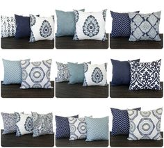 This listing is for one throw pillow cover (pillow insert not included) in the gorgeous new Vintage Indigo Blue line printed on 100% cotton decorator weight fabric. The colors in this line are Light gray-ish blue, navy blue, slate gray, light taupe/tan, and white. This is very nice,