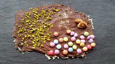 selbstgemachte Schokoladentafel