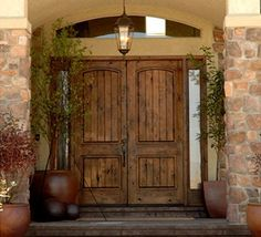 Double Doors Exterior on Wood Double Entry Door Classic Doors View Knotty Alder… Double Front Entry Doors, Craftsman Front Doors, Wooden Front Doors, Front Door Entrance, Rustic Doors, Craftsman Style, Oak Doors, American Craftsman, Door Entry