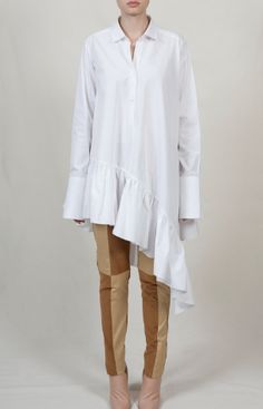 palmer//harding ruffle hem shirt. The Vogue Edit.