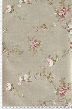 ann es 1950 vintage wallpaper papier peint floral p ches. Black Bedroom Furniture Sets. Home Design Ideas