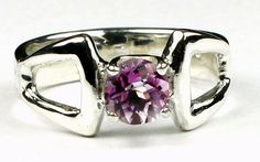 SR307, 6mm Pure Pink Topaz, 925 Sterling Silver Ring * Stone Type - Pure Pink Topaz * Approximate Stone Size - 6mm  * Approximate Stone Weight - 1 ct  * Jewelry Metal - Solid 925 Sterling Silver * Approximate Metal Weight - 3.7 grams  * Ring Size - Size selectable during checkout * Our Warranty - A full year on workmanship  * Our Guarantee - Totally unconditional 30 day guarantee