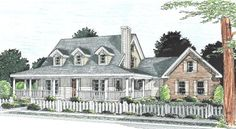 House Plan 4848-00173 - An inviting Country House Plan features abundant outdoor space. There are approximately 1,675 square feet of living space featuring three bedrooms, two plus baths and an open floor plan. Expansion space is found above the garage where there is a large bonus/flex space.