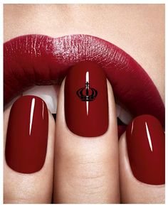 DIOR Royal Manicures - matching your nails to your lips never looked so good. #nails #beauty