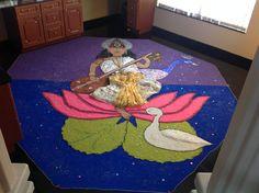 bhagwan rangoli saraswati god goddess