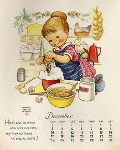 Illustration by Mabel Lucie Attwell Images Vintage, Vintage Pictures, Vintage Cards, Vintage Calendar, Children's Book Illustration, Vintage Children, Vintage Prints, Cute Kids, Vintage Christmas