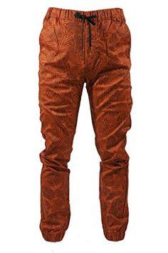 5889741e803 Kayden K Men s Leaf print Drop Crotch Jogger Pants at Amazon Men s Clothing  store