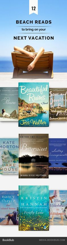 12 beach reads to bring on your next vacation, including Beautiful Ruins by Jess Walter