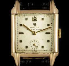 Rolex Shock Resisting Vintage Gents 9k Rose Gold Silver Dial 4533 Vintage Rolex, Clock, Rose Gold, Silver, Decor, Watch, Decoration, Money, Dekoration
