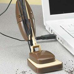 Tiny USB-powered desk vacuum. Gadgets, USB gadgets, Office gadgets, Photos 0