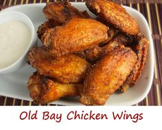It's really hard to beat crispy chicken wings that have the great crab-boil flavor of Old Bay seasoning. I ate these wings like I hadn't had anything to eat in weeks. They disappeared so fast your hea (Boiled Chicken Meals) Dry Rub Chicken Wings, Cooking Chicken Wings, Crispy Chicken Wings, Chicken Wing Recipes, Baked Chicken, Tandoori Chicken, Air Fryer Recipes Chicken Wings, Chicken Wing Marinade, Chicken Flavors