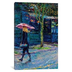 "Latitude Run Old Pequliar Painting Print on Wrapped Canvas Size: 12"" H x 8"" W x 0.75"" D"