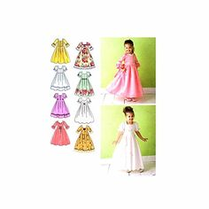 Simplicity Sewing Pattern 3545 Child Special Occasion Dre...…