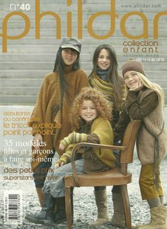Phildar 40 - Enfants Knitting Books, Knitting For Kids, Crochet For Kids, Lace Knitting, Knit Crochet, Knitting Designs, Knitting Patterns, Crochet Patterns, Knitting Magazine