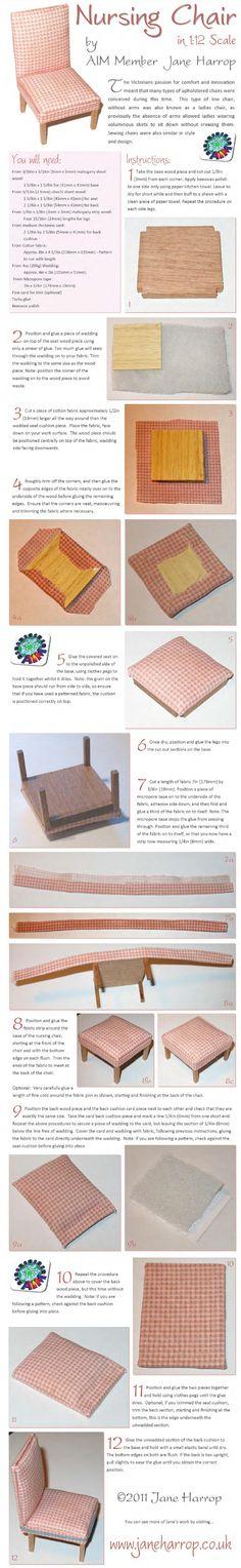 tutorial diy miniature nursing chair for the dollhouse
