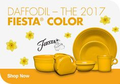 Daffodil - The 2017 Fiesta® Color Fiesta Colors, Bath And Beyond, Homer Laughlin, Shades Of Yellow, Daffodils, Dinnerware, Tea Cups, Sweet Home, Dishes