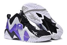 6bc56b15772dbc Reebok Kamikaze II Mid Mens Fashion Sneaker Basketball Purple Black White  Christmas Deals Q7rMf