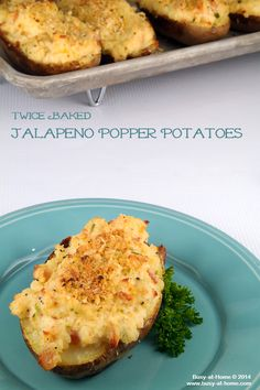 Twice Baked Jalapeno Popper Potatoes| Busy-at-Home