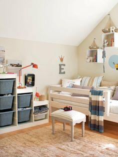 One bedroom with plenty of storage space