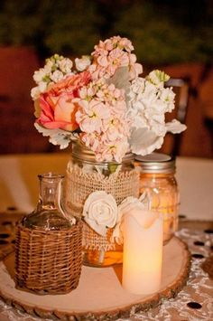 Love this romantic centerpiece