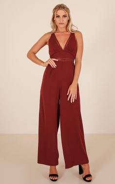 c07fb0a71066 Showpo Truth Or Dare jumpsuit in wine - 14 (XL) Rompers & Jumpsuits Dress