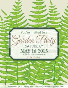greeting free garden party invitations wild flower design garden