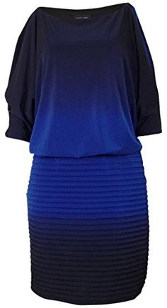 Xscape Womens Ombre Split Dolman Jersey Dress 6 Royal Navy >>> Want to know more, click on the image-affiliate link.