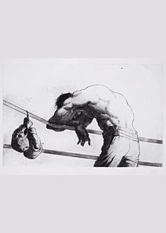 Last Round on Behance Muay Thai, Boxing Tattoos, Art Sketches, Art Drawings, Boxing Images, Boxing Posters, Arte Hip Hop, Art Of Fighting, Boxing Girl