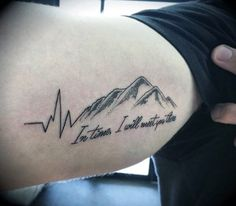 50 Heartbeat Tattoo Designs For Men - Electronic Pulse Ink Ideas