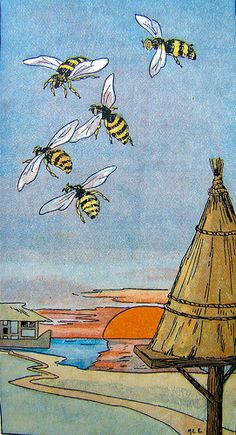 Poster of Bees flying