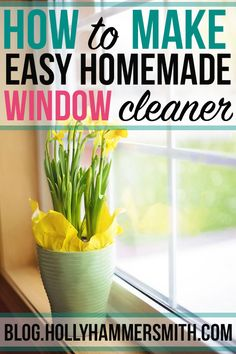 Instead of buying window cleaner full of chemicals and unnatural ingredients, try making this easy homemade window cleaner. It's natural and cleans windows. Cleaning Recipes, Diy Cleaning Products, Cleaning Hacks, Cleaning Schedules, Diy Glass Cleaner, Window Cleaner, Cleaners Homemade, Diy Cleaners, Cleaning Windows With Vinegar
