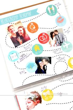 Relationship roadmap and travel journal! What a romantic gift idea for your boyfriend or husband.