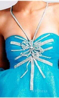 Short Blue Dress Natural A-Line Dress