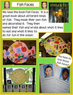 Golden Gang Kindergarten: ***{{Oceans unit ~use these activities with book: Fish Faces}} Ocean Activities, Writing Activities, Holiday Activities, Summer Activities, Reggio, Fish Face, Ocean Unit, School Fun, Summer School