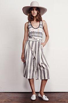 Ace and Jig - Bay Pant #aceandjig #textile #stripes #pant #culotte #madeinIndia #textiledesigners #fabrics #womenswear #India #ethicalfashion #modresponsable #fairtrade   www.thenewwardrobe.tumblr.com