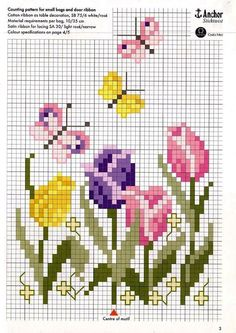 Tulip cross stitch.