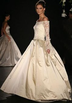 champagne taffeta with lace sleeves wedding dress 8ee5397c3d3e