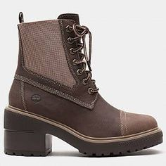 Shop Silver Blossom Boot for Women in Beige today at Timberland. The official Timberland online store. Timberlands Women, Short Ankle Boots, Ankle Booties, Winter Fashion Boots, Winter Boots, Gris Taupe, Buy Boots, Block Heel Boots, Leather