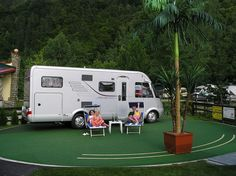 Komfort-Campingpark Burgstaller - Millstätter See/Carinthia - Camping on a plate Camping, Austria, Recreational Vehicles, Top, Campsite, Camper, Campers, Crop Shirt, Tent Camping