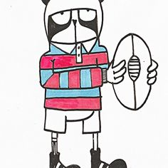 #doodle #doodling #draw #drawing #rugby #wallart #illust #illustagram #illustration #illustrationartists #ink #pen #instaart #instadraw #creative #artwork #mural #art_we_inspire #design #sport #commission