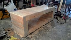 Diy pallet TV unit - made from 2 pallets.