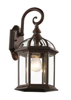 "Trans Globe Lighting 4181 RT Botanica 15 3/4"" Outdoor Coach Lantern"