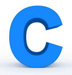 Letter C, Cheryl, Blue