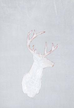 Deer head painting .//. antlers
