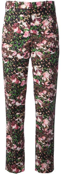Giane Capato: Givenchy Floral Print Trousers in Floral (multicolour) -