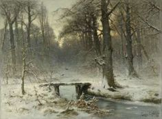 A January Evening in the Woods of The Hague, Louis Apol, 1875 - Rijksmuseum