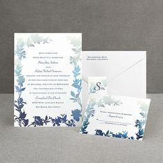 Watercolor Shades - Navy - Invitation